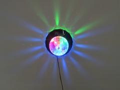 """Эффект светодиодный """"кристальный магический"""" шар с вращением и """""""