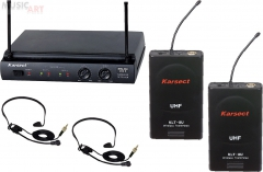Karsect KRU-302*KLT-8U*HT-2 радиосистема UHF в кейсе