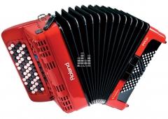 Цифровой баян Roland  FR-1xb (черный, красный)