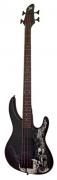 Бас гитара JET USB 2053SG цвет BK черный с черепами