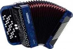 Кнопочный аккордеон HOHNER Nova II 72 (A1564) 3/4 Blue гриф B