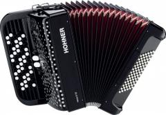 Кнопочный аккордеон HOHNER Nova II 72 (A1562) 3/4 Black гриф B