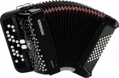 Детский кнопочный аккордеон HOHNER Nova II 48 (A1552) Black гриф