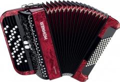 Кнопочный аккордеон HOHNER Nova II 72 (A1563) 3/4 Red гриф B